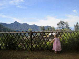 Daughter Looking Over Village